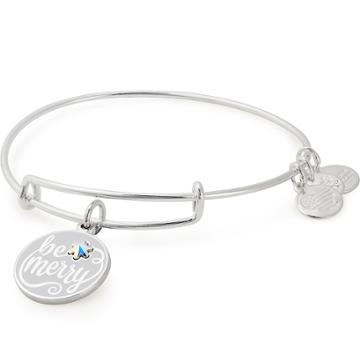 Alex And Ani Be Merry Charm Bangle Online Exclusive, Shiny Silver Finish