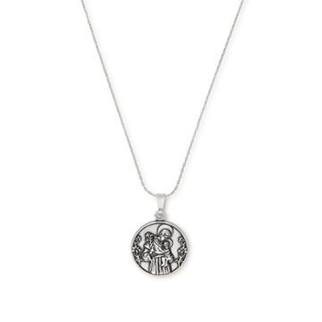 Alex And Ani Saint Anthony Expandable Necklace, Rafaelian Silver Finish