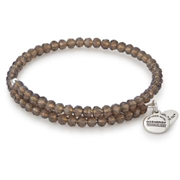 Alex And Ani Wildberry Pebble Wrap, Rafaelian Silver Finish