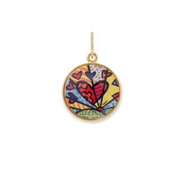 Alex And Ani A New Day Art Infusion Necklace Charm Romero Britto, Shiny Gold Finish