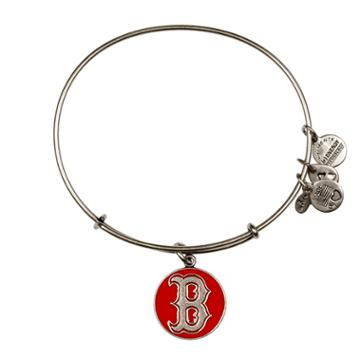 Alex And Ani Red Boston Red Sox  Cap Logo Charm Bangle, Rafaelian Silver Finish