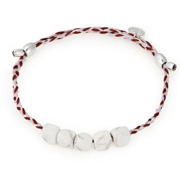 Alex And Ani Howlite Gemstone Precious Threads Bracelet, Sterling Silver