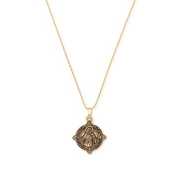 Alex And Ani Jesus Expandable Necklace, Rafaelian Gold Finish
