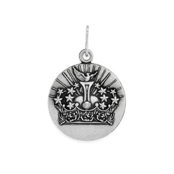 Alex And Ani Queen's Crown Necklace Charm Rafaelian Silver Finish
