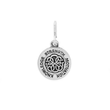 Alex And Ani Path Of Life Mini Necklace Charm Rafaelian Silver Finish