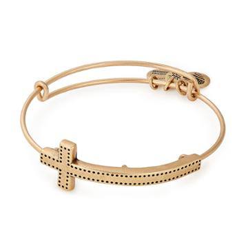 Alex And Ani Cross Spiritual Armor Bangle, Rafaelian Gold Finish