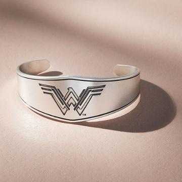 Alex And Ani Wonder Woman Warrior Princess Cuff, Rafaelian Silver Finish