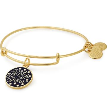 Alex And Ani Let It Snow Charm Bangle Online Exclusive, Shiny Gold Finish