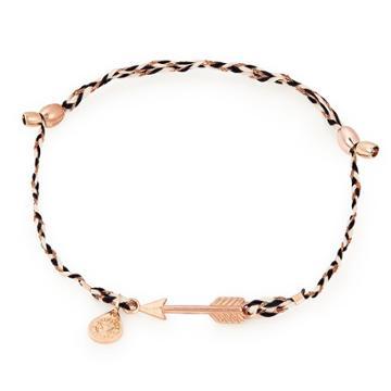 Alex And Ani Arrow Precious Threads Bracelet, 14kt Rose Gold Plated