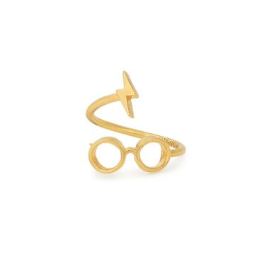 Alex And Ani Harry Potter  Glasses Ring Wrap, 14kt Gold Plated