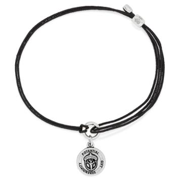 Alex And Ani Unexpected Miracles Pull Cord Bracelet, Rafaelian Silver Finish