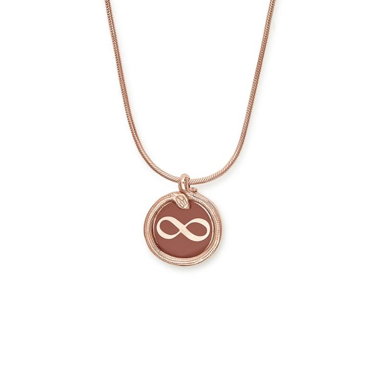 Alex And Ani Infinity And Snake Color Infusion Necklace, 14kt Rose Gold Plated Sterling Silver
