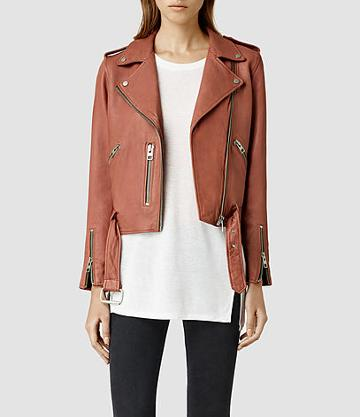 Allsaints Wyatt Leather Biker Jacket