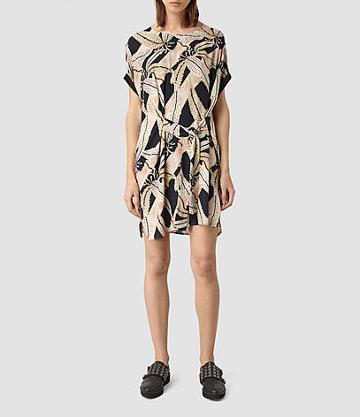 Allsaints Sonny Fuji Silk Dress