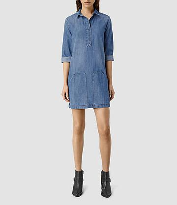Allsaints Ash Denim Shirt Dress