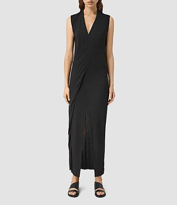 Allsaints Long Siv Jersey Dress