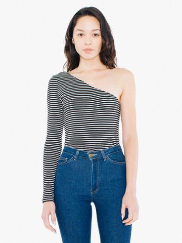American Apparel Striped 9x1 Rib Luna Top