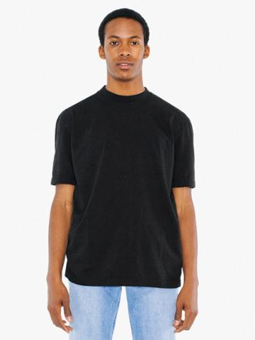 American Apparel Power Wash Mock Neck T-shirt