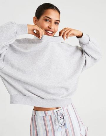 American Eagle Outfitters Ae Oversized Drop Armhole Crew Neck Sweatshirt