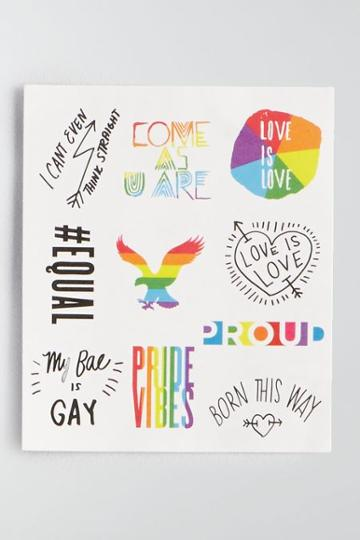 American Eagle Outfitters Ae #equal Temporary Tattoos