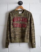 Tailgate Women's Maryland Camo Fleece Sweatshirt