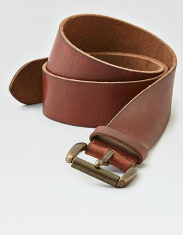 American Eagle Outfitters Ae Wide Brown Leather Belt