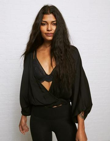 American Eagle Outfitters Don't Ask Why Oversized Sleeves Surplice