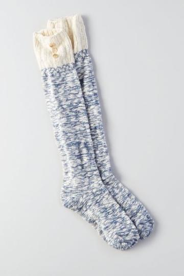 American Eagle Outfitters Ae Pointelle Cuff Boot Socks