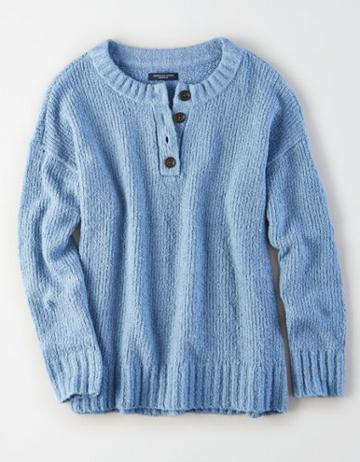 American Eagle Outfitters Ae Henley Pullover Sweater