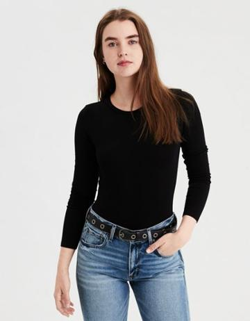 American Eagle Outfitters Ae Long Sleeve Bodysuit