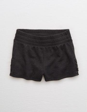 Aerie Side Lace-up Fleece Short