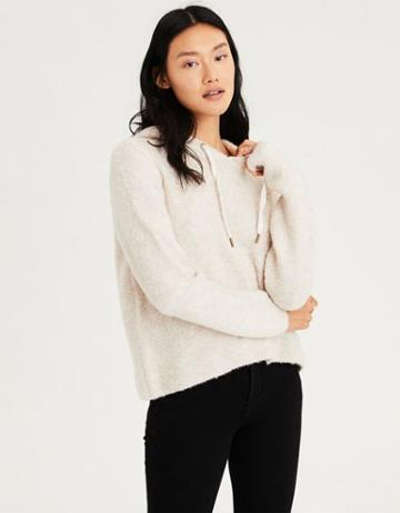 American Eagle Outfitters Ae Boucle Hoodie Sweater