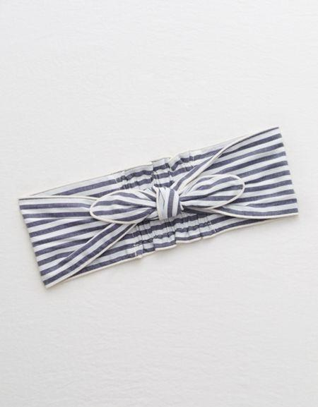 Aerie Striped Knot Headband