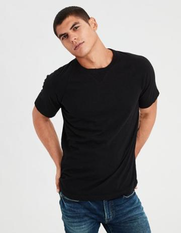 American Eagle Outfitters Ae Distressed Raglan T-shirt