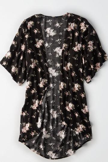 American Eagle Outfitters Ae Hi-lo Kimono