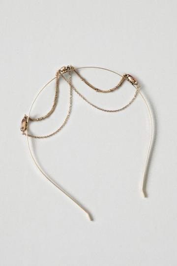 American Eagle Outfitters Ae Gold Draped Chain Headband