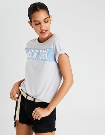 American Eagle Outfitters Ae Ny Crew Neck Graphic Tee