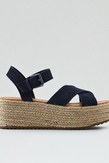 American Eagle Outfitters Ae Suede Flatform Sandal