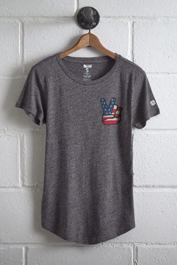 Tailgate Women's Peace Sign T-shirt