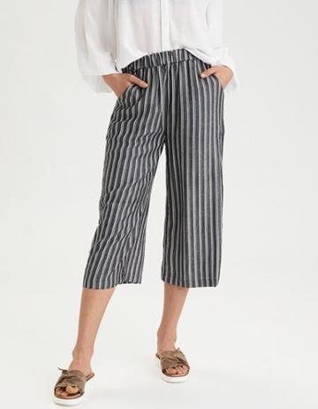 American Eagle Outfitters Ae Smocked Wide Leg Culotte
