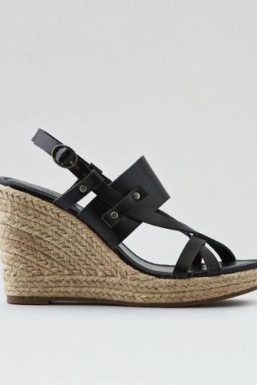 American Eagle Outfitters Ae Buckle Wedge Sandal