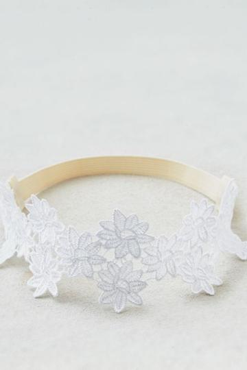 American Eagle Outfitters Ae White Lace Headband