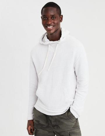 American Eagle Outfitters Ae Textured Fleece Baja Hoodie Sweater