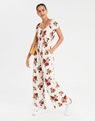 American Eagle Outfitters Ae Gathered Front Jumpsuit