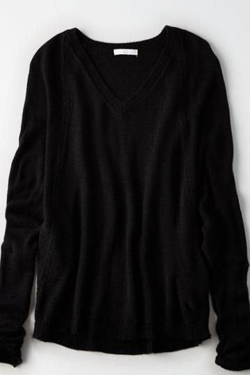 American Eagle Outfitters Don't Ask Why Skinny Sleeve Boxy Sweater