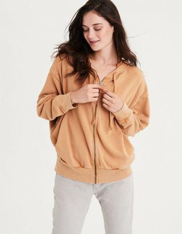 American Eagle Outfitters Ae Ahhmazingly Soft Oversized Full Zip Hoodie