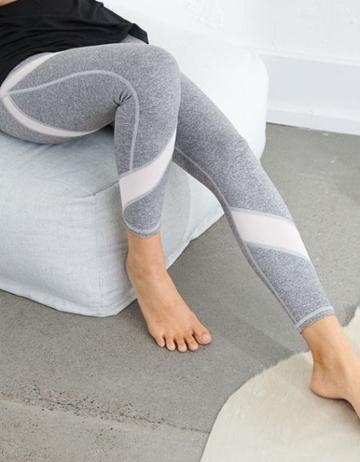 Aerie Move High Waisted 7/8 Mesh Detail Legging