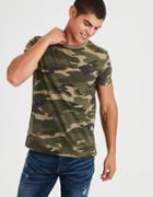 American Eagle Outfitters Ae Slub Camo T-shirt