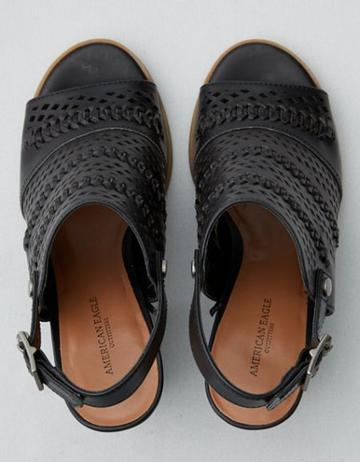American Eagle Outfitters Ae Peep Toe Sling Back Sandal