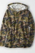 American Eagle Outfitters Ae Camo Fleece Hoodie